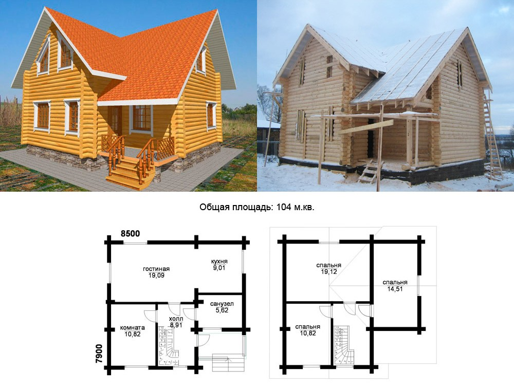 Индивидуальный проект деревянного дома