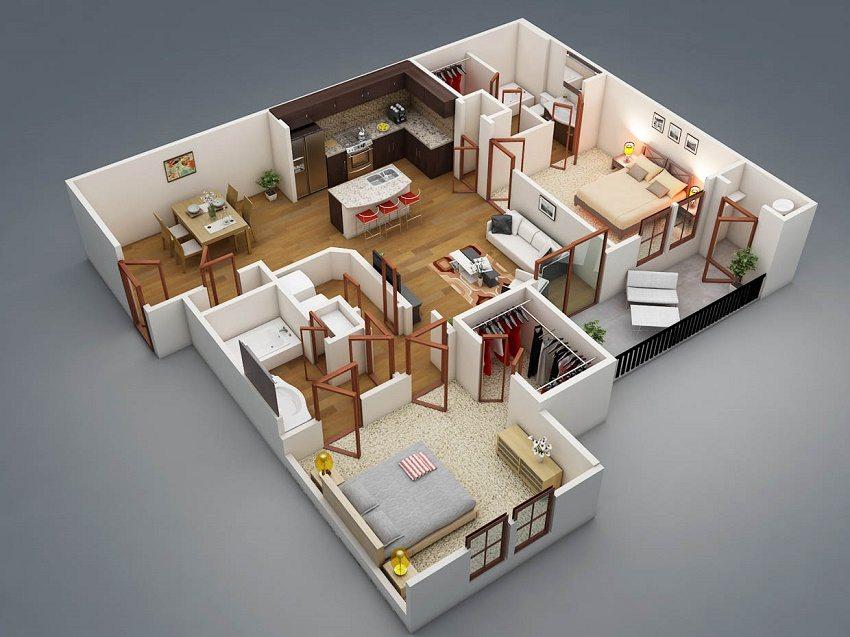 3D визуализаия проекта