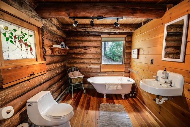 Ванная комната для деревянного дома