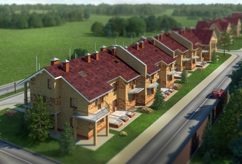 Проектирование коттеджей в поселке