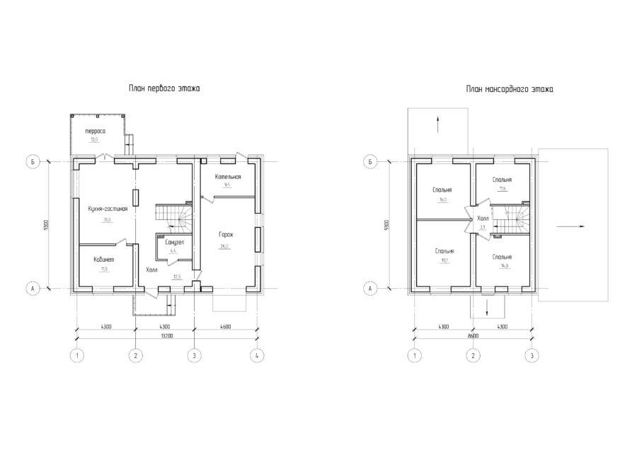 Проект дома 13*10 из керамзитоблоков