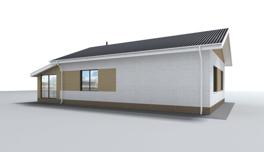 Проект одноэтажного индивидуального жилого дома 191.4 кв. м.