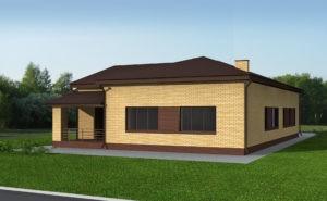 Проект индивидуального жилого дома 261 кв.м.