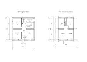 Проект жилого дома с мансардой 154 кв.м.