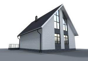 Проект индивидуального жилого дома 116 кв. м.
