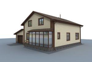 Проект индивидуального жилого дома 200 кв. м.