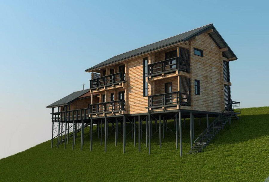 Как спроектировать дом на склоне