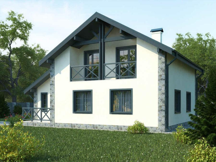Дом из газобетонных блоков с отделкой