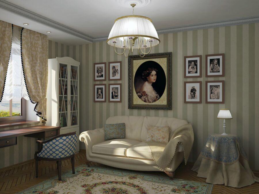 Дизайн кабинета в русском стиле