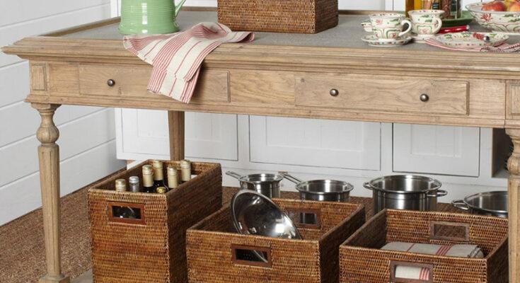Стильное решение: плетёные корзины в интерьере | Хранение ... | 400x735