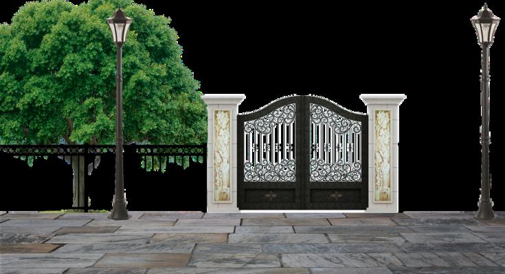Забор для частного дома кованый