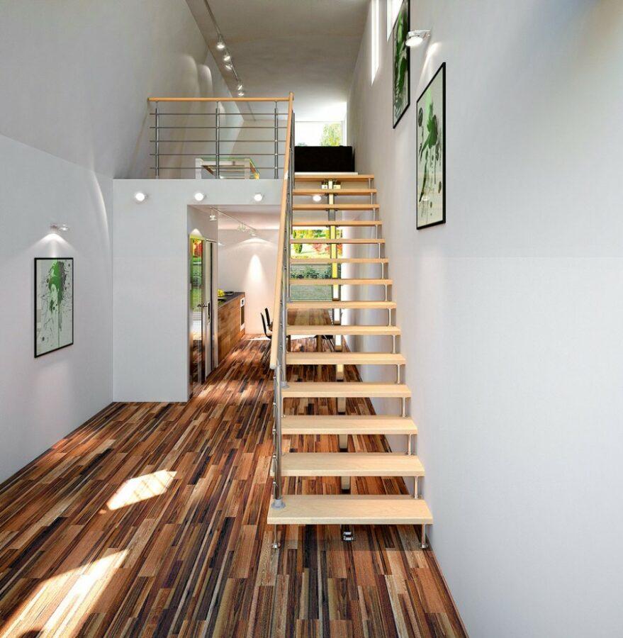 Лестница на второй этаж в частном доме: требования, выбор материалов, установка