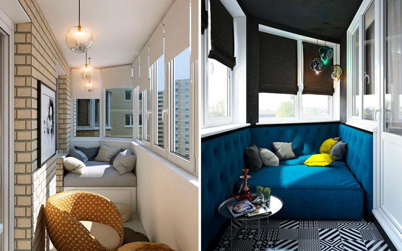 Идеи для обустройства балкона внутри