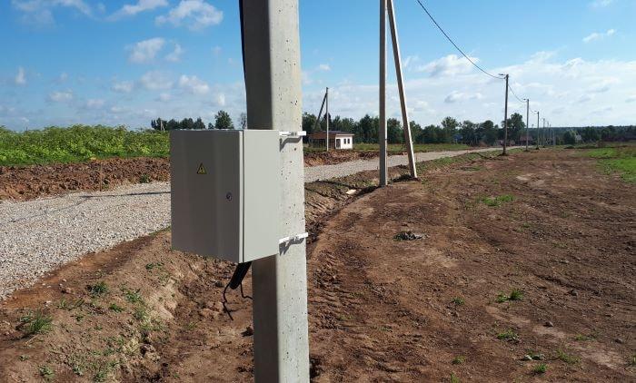 Подключение электричество на участке