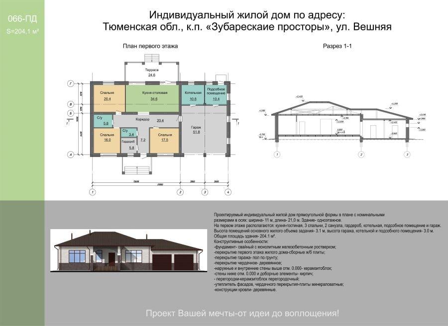 Проект одноэтажного дома и его преимущества
