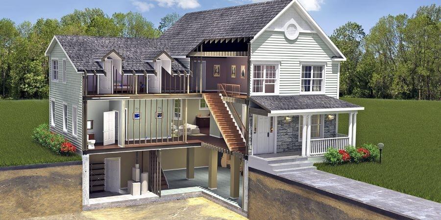 Каркасный дом с подвалом