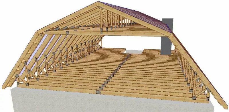 Схема мансарды с ломаной крышей
