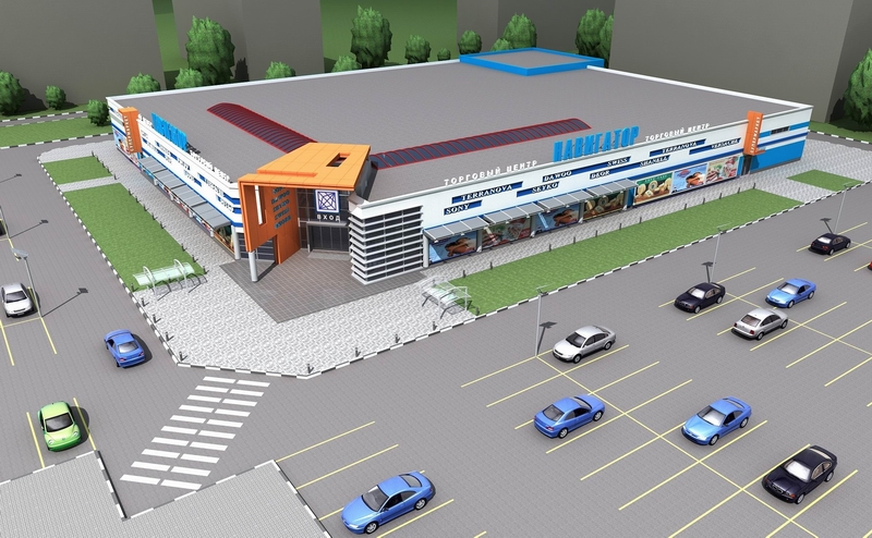 Проект ТЦ с парковочными местами
